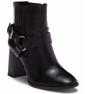 BCBGeneration {7.5} Booties Vegan Black Block Heel